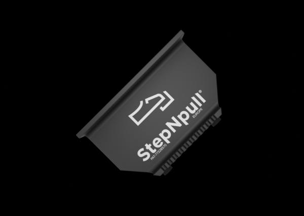 stepnpull the foot handle and hands free door opener overhead black branded product image