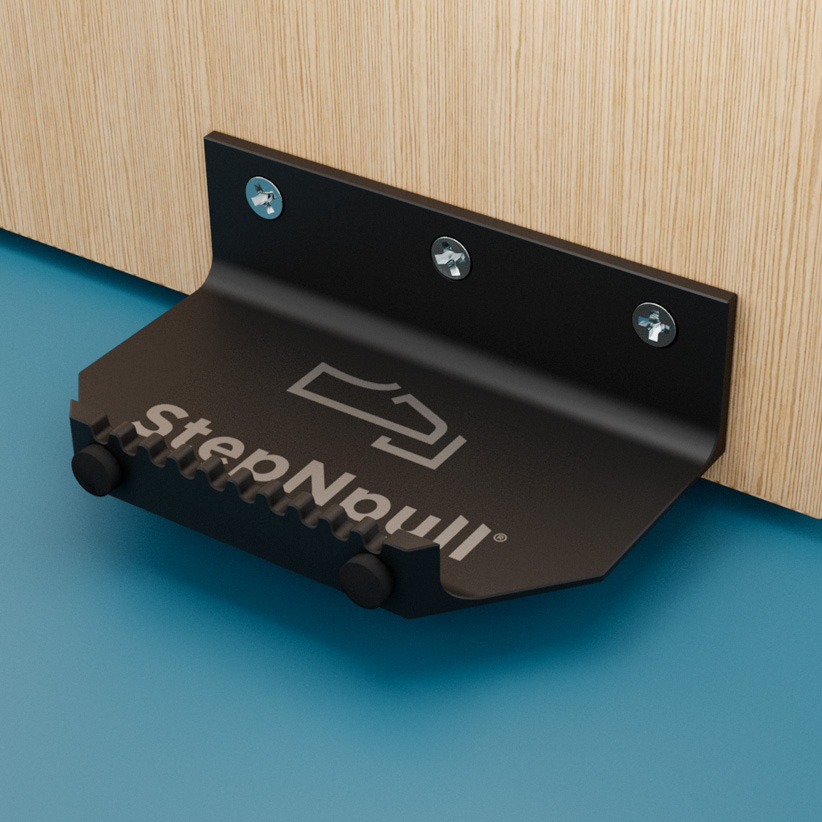 stepnpull the foot handle black product image for standard doors