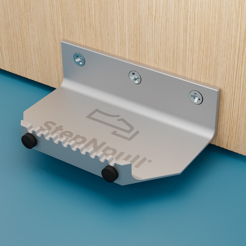 stepnpull the foot handle silver product image for standard doors